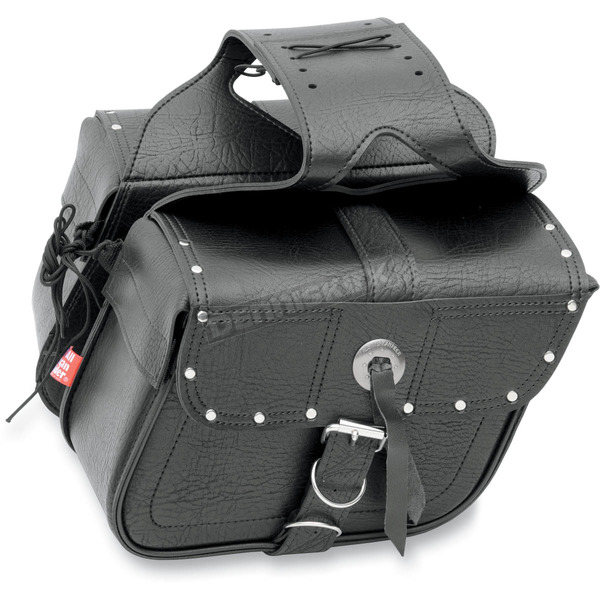 All American Rider Riveted Slant Flap-Over Style Saddlebags - 3036RVT at Dennis Kirk