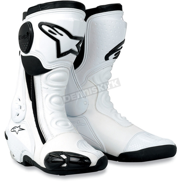 Alpinestars S-MX Plus White Racing Boots $140