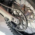 rear motorcycle chain and sprocket