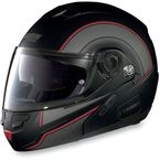 Black/Red/Anthracite N90 N-Com Modular Helmet - N905271680228