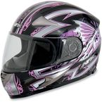 Black Pink Passion FX-90 Helmet - 0101-5179
