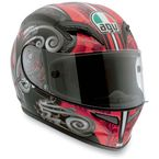 Black/Red Stigma Grid Helmet - 0361O2C0002009