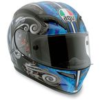 Black/Blue Stigma Grid Helmet - 0361O2C0003009