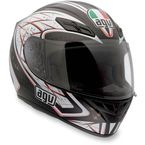Silver Black/Red K4 EVO Helmet - 0031O2C0001004