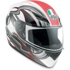White/Red Chicane K3 Series Helmet - 03215290017009