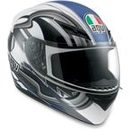 White/Blue Chicane K3 Series Helmet - 03215290018005