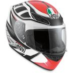 White/Black/Red K4 Evo Diapason Helmet - 0031O2C0013007