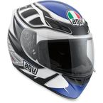 White/Black/Blue K4 Evo Diapason Helmet  - 0031O2C0014007