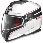 Metallic White/Black N86 N-Com® Rapid Helmet - N8R5273330241