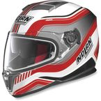 Metallic White/Red N86 Deep Helmet - N8R5273310181