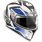 White/Black/Blue K-3 SV Helmet - 0301O2F0001009