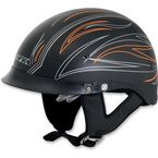 Flat Black w/Orange Pinstripe FX-200 Helmet - 0103-0782