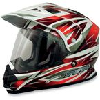 Red Multi FX-39 Dual Sport Helmet - 0110-2481