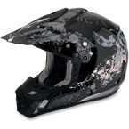 Youth Black Stunt FX-17 Helmet - 0111-0713