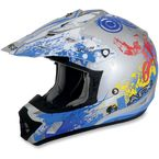 Youth Blue Stunt FX-17 Helmet - 0111-0721