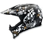Black/White AX-8 Helmet - 01102641