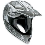 White/Silver MTX Evolution Helmet - 902152A0009007