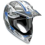 White/Blue MTX Evolution Helmet - 902152A0011009