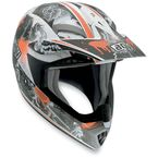 White/Orange MTX Evolution Helmet - 902152A0012009