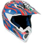 Red/Blue Evo AX8 Helmet - 7511O2C0008007