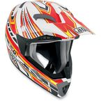 White/Red Point MTX Helmet - 902152A0014009