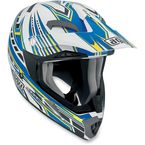 White/Blue Point MTX Helmet - 902152A0015009