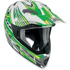 White/Green Point MTX Helmet - 902152A0016007