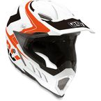 White/Orange/Black AX-8 Evo Helmet - 7511O2C0010005
