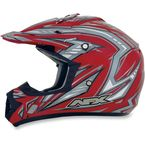 Youth Red Multi FX-17Y Helmet - 0111-0910