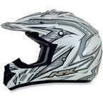 Pearl White Multi FX-17 Factor Helmet - 0110-3491