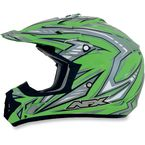 Youth Green Multi FX-17Y Helmet - 0111-0914