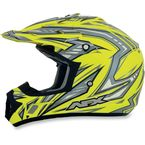 Yellow Multi FX-17 Factor Helmet - 0110-3503