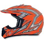 Orange Multi FX-17 Factor Helmet - 0110-3511