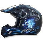 Black/Blue Multi FX-17 Inferno Helmet - 0110-3522