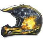 Black/Yellow Multi FX-17 Inferno Helmet - 0110-3543