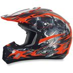 Orange Multi FX-17 Inferno Helmet - 0110-3569