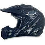 Flat Black Multi FX-17 Gear Helmet - 0110-3576