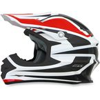 Red/White FX-21 Alpha Helmet - 0110-4103