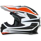 Orange/White FX-21 Alpha Helmet - 0110-4116