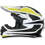 Yellow/White FX-21 Alpha Helmet - 0110-4122