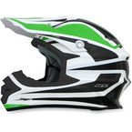 Green/White FX-21 Alpha Helmet - 0110-4126