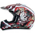 Youth Red FX-17Y Trap Helmet - 0111-0846