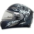 Silver FX-90SE Danger Helmet w/Electric Dual Lens Shield - 0121-0550