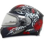 Red FX-90SE Danger Helmet w/Electric Dual Lens Shield - 0121-0559