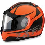 Orange Phantom Peak Helmet - 0121-0812