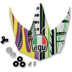 Yellow/Purple EVO AX8 Visor - KIT75002024