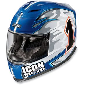 Icon Blue Airframe Gixxer Team Helmet - 01013071