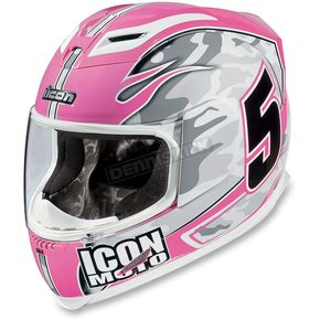 Icon Pink Airframe Team Helmet - 01013088