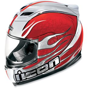 Icon Red Airframe Claymore Chrome Helmet - 01013908