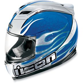 Icon Blue Airframe Claymore Chrome Helmet - 0101-3914